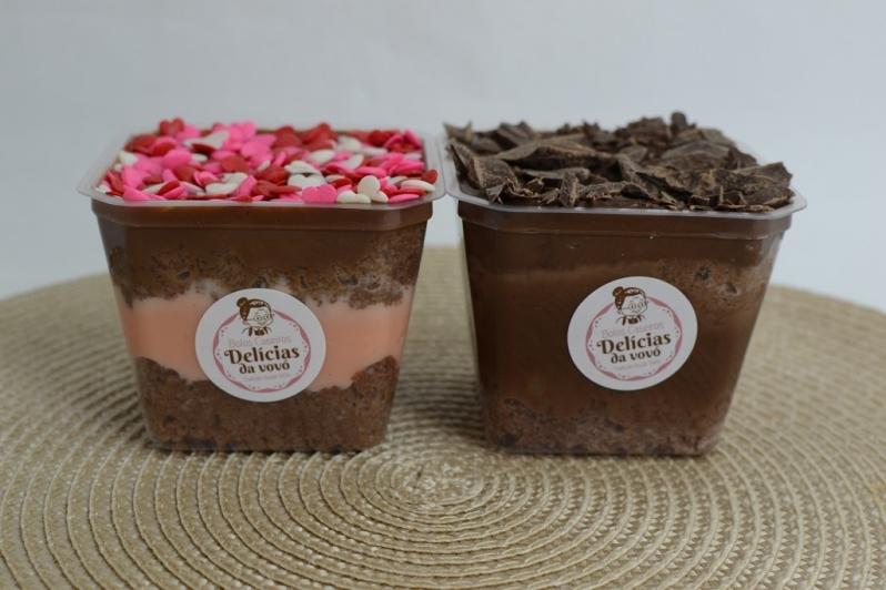 Bolo de Pote Fitness Local Sé - Bolo de Pote de Chocolate