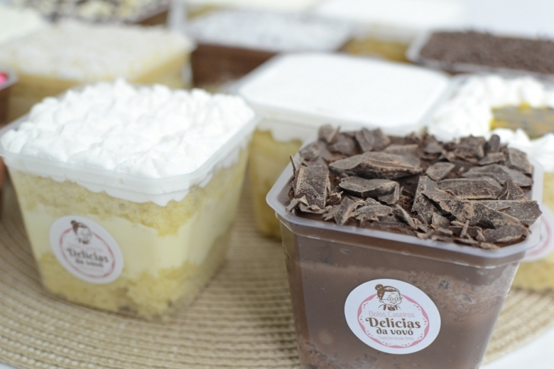 Onde Comprar Bolo de Pote Morango Região Central - Bolo de Pote de Chocolate