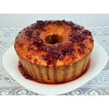 bolo confeitado com frutas Glicério