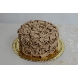bolo confeitado para batizado Aclimação